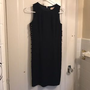 Michael Kors Navy Fitted Dress with Lace up Sides